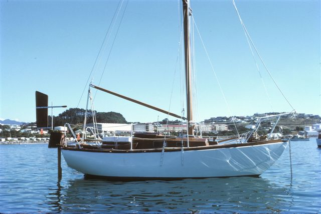 The finished article at New Plymouth NZ, prior to the 1974 Singlehanded Trans Tasman Race