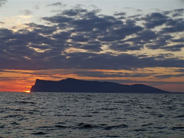 Sunrise at Foula
